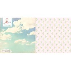 Двустранен дизайнерски картон - облаци - Journey Begins (Single 12X12 Paper Sheet)