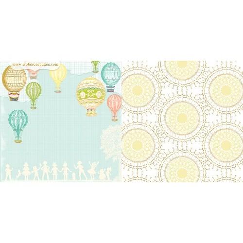 """Двустранен дизайнерски картон балони с въздух 12"""" х 12"""" - A Beautiful Sight (Single 12X12 Paper Sheet)"""