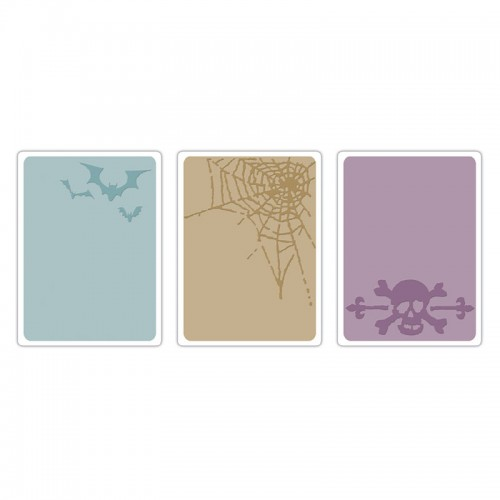 Ембосинг папка - Sizzix Texture Trades Embossing Folders 3PK - Spooky Things Set
