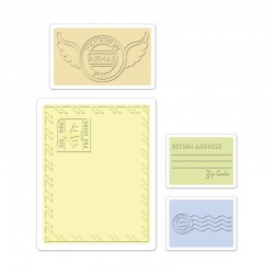 Ембосинг папка - Sizzix Textured Impressions Embossing Folders 4PK - Mail Set