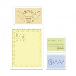Ембосинг папка - Sizzix Textured Impressions Embossing Folders 4PK - Mail Set