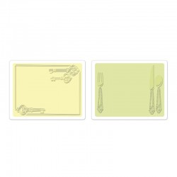 Ембосинг папка - Sizzix Textured Impressions Embossing Folders 2PK - Place Setting & Keys Set