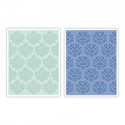 Ембосинг папка - Sizzix Textured Impressions Embossing Folders 2PK - Classical Beauty & Baroque Wallpaper Set