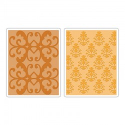 Ембосинг папка - Sizzix Textured Impressions Embossing Folders 2PK - Luxurious Set