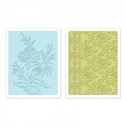 Ембосинг папка - Sizzix Textured Impressions Embossing Folders 2PK - Beatnik Bouquet Set