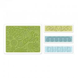 Ембосинг папка - Sizzix Textured Impressions Embossing Folders 4PK - Bohemian Botanicals Set