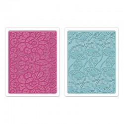 Ембосинг папка - Sizzix Textured Impressions Embossing Folders 2PK - Bohemian Lace Set