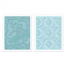 Ембосинг папка - Sizzix Textured Impressions Embossing Folders 2PK - Free Spirit Florals Set