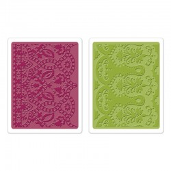 Ембосинг папка - Sizzix Textured Impressions Embossing Folders 2PK - Moroccan Daydreams Set