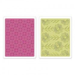 Ембосинг папка - Sizzix Textured Impressions Embossing Folders 2PK - Psychedelic Dreams Set