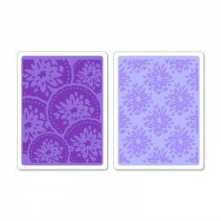 Ембосинг папка - Sizzix Textured Impressions Embossing Folders 2PK - Courtyard & Medallion Set