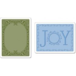 Ембосинг папка - Sizzix  - Embossing Folder 2 PK - Holiday Joy Set