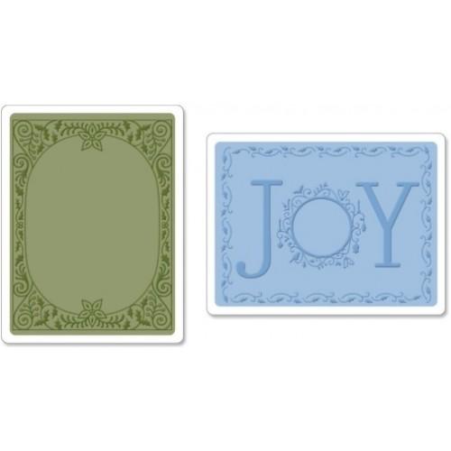 Ембосинг папка - Sizzix  - Embossing Folder 2 PK - Holiday Joy Set