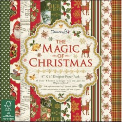 "Дизайнерско блокче 6"" х 6"" - Dovecraft The Magic of Christmas FSC 6x6 Paper Pack"