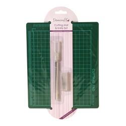 Самовъзстановяваща се подложка с крафт скалпел - Dovecraft Cutting Mat & Knife Set