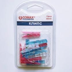 Мини пластмасови декоративни щипки - 15бр., 35мм