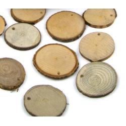 Дървена шайба с дупка: Ø 3 - 4 cm - 5бр.