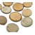 Дървена шайба с дупка: Ø 5 - 6 cm - 5бр.