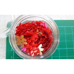 Контейнерче с пайети - червени цветя