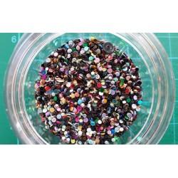 Контейнерче с пайети - разноцветни малки кръгчета микс