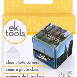 Прозрачни самозалепващи ъгълчета за снимки- EK Success Clear Photo Corners - 250бр.