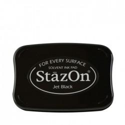 Перманентно черно мастило на солвентна основа - Tsukineko - StazOn inkpad Jet black