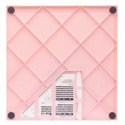 Дъска за биговане/прегъване в сантиметри - Vaessen Creative • Score Easy board CM/Metric roze