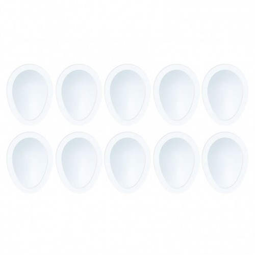 10бр. 3D прозрачни плаки за шейкър картичка балон/ яйце - Tonic Studios shaker refill set balloon
