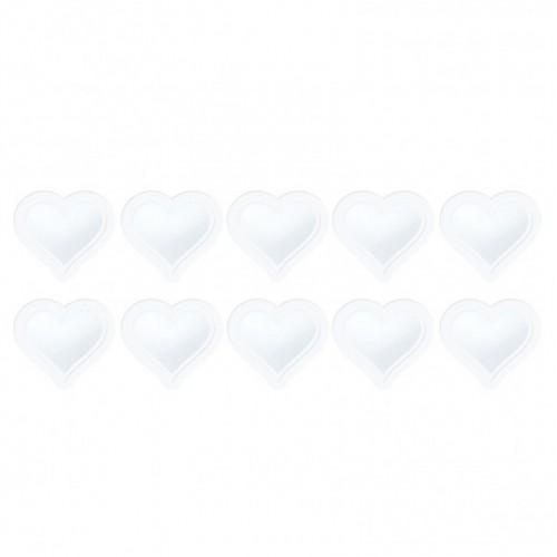 Резервни прозрачни плаки за 3D шейкър картички - сърце - Tonic Studios shaker refill set heart - 10бр.