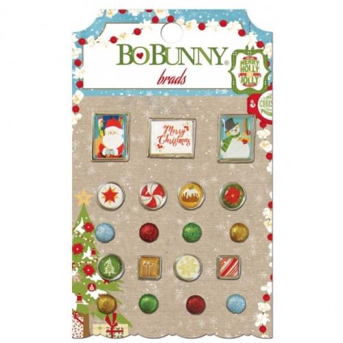 Брадс - Bo Bunny dear santa brads - 19бр.
