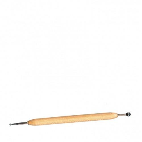 Двувърх ембосинг инструмент с дървена дръжка - Embossing pen 3mm/6mm