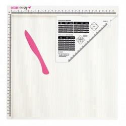 Дъска за прегъване/биговане в сантиметри - Score Easy 30.5x30.5 cm (12x12 inch)