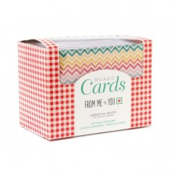 Комплект от 40бр. основи за картички с пликове - Boxed card sets from me to you 40 cards 40 white envelopes