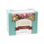 Комплект от 40бр. основи за картички с пликове - Boxed cards x 40 cards & envelopes glimmer