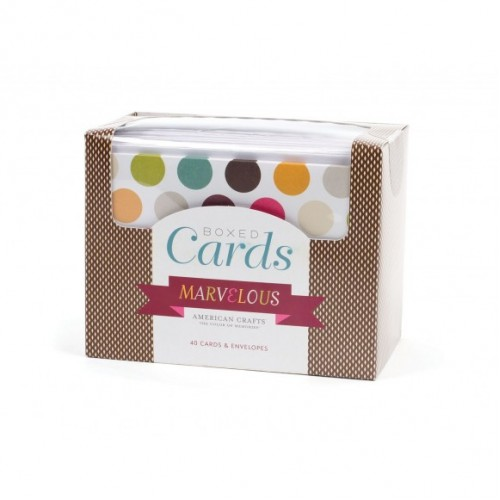 Комплект от 40бр. основи за картички и пликове - Boxed cards x 40 cards & envelopes marvelous
