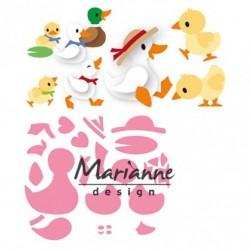 Универсални щанци - семейство патета - Marianne Design Collectables Eline's duck family