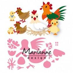 Универсални щанци - семейство пилета - Marianne Design Collectables Eline's chicken family