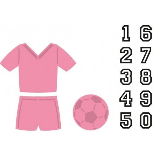 Универсална щанца за рязане - футболен екип и топка - Marianne Design Collectables football