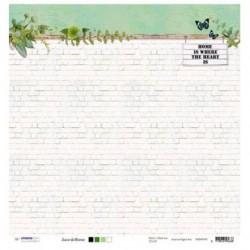 """Висококачествена двустранна дизайнерска хартия 12"""" х 12"""" - Любов & Дом  - STUDIO LIGHT - 1бр."""