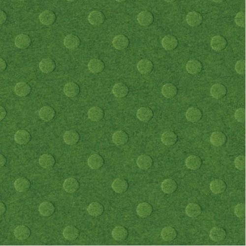 """Релефна дизайнерска хартия на точки - Bazzill dot Swiss 12x12"""" x1 greenbriar - зелена - 12"""" х 12"""""""