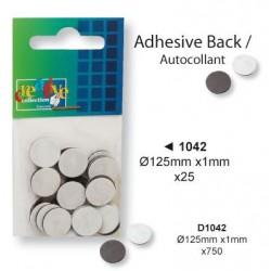Самозалепващи се магнити - 1.25см - Magnet+adhesive strip 1.25 cm. round - 25бр.