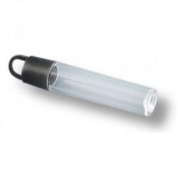 Комплект от 3 бр. прозрачни продълговати тубички с черни капачки - Tube plastic +black hangtop