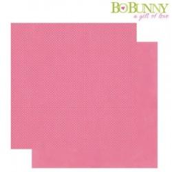 Дизайнерски картон с релефни точки - Bo Bunny - double dots designs 30,5x30,5cm blush dot
