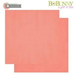 "Дизайнерски картон корал на точки - 12"" х 12"" - Bo Bunny - double dots designs 30,5x30,5cm coral dot"