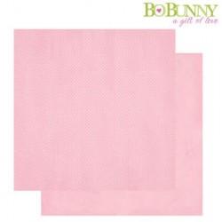 Дизайнерски картон розов на точки - Bo Bunny -  double dots designs 30,5x30,5cm tutu dot