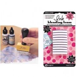 Тампони за разнасяне на мастила и дистрес ефект - Ranger - Ink blending tool replacement foam pack x10