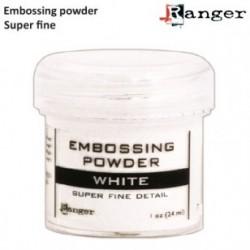 Супер детайлна бяла ембосинг пудра - Ranger - Embossing poeder 14g super fine white