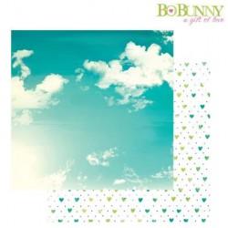 Двустранна дизайнерска хартия - Bo Bunny - forever young 30,5x30,5cm fresh air