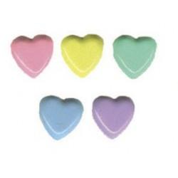 Комплект от микс  брадс сърца - 50бр. - Brads 50x heart