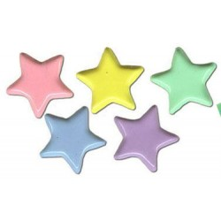 Комплект от микс брадс звезди - 50бр. - Brads 25x star